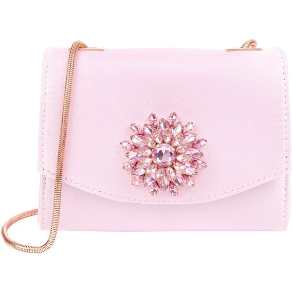 07f8c985948 Ted Baker Lilita Gem Brooch Across Body Clutch Bag ($76) ❤ liked on  Polyvore featuring bags, handbags, clutches, bolsa, nude pink, pink  clutches, ...