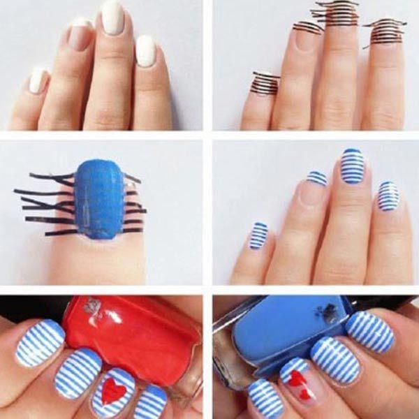 Diseños para uñas paso a paso | Diseños para uñas, Diseños de uñas y ...