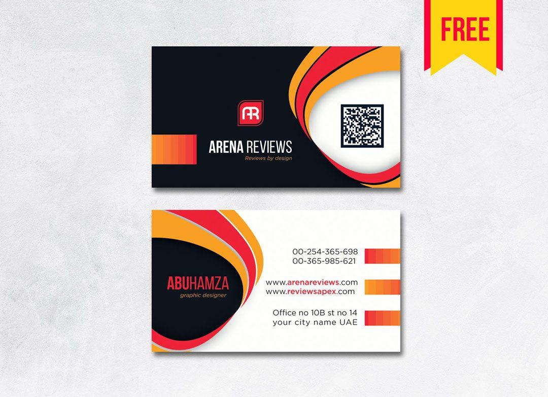 Orange Modern Professional Business Card Template Free Download Bus Free Business Card Templates Visiting Card Templates Professional Business Cards Templates