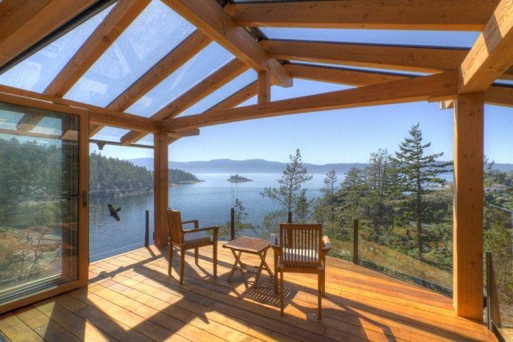 Terrasse couverte 30 id es sur l 39 auvent en bois et la pergola terrass - Construire une pergola couverte ...