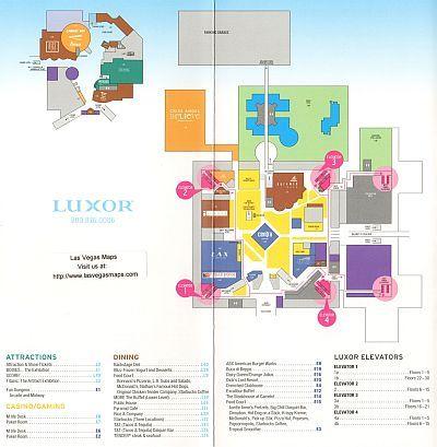 Luxor Property Map Las Vegas Maps Las Vegas Map Vegas Maps Luxor