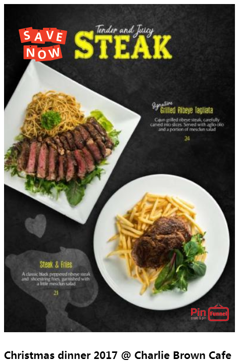 christmas dinner ideas and best deal 2017 at charlie brown cafe in cineleisure orchard mall