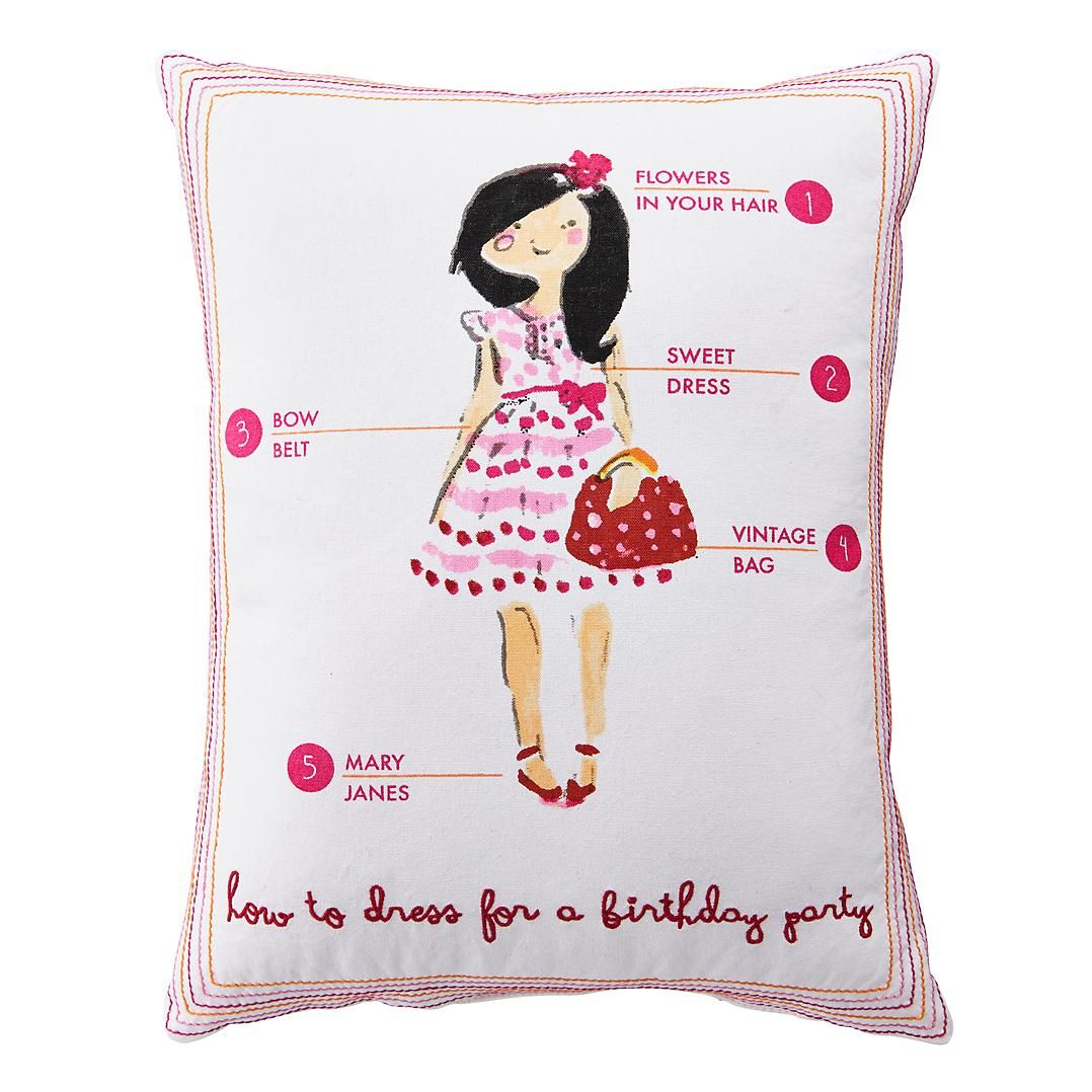 Fashionista Throw Pillow Birthday | The Land of Nod #NodWishlistSweeps