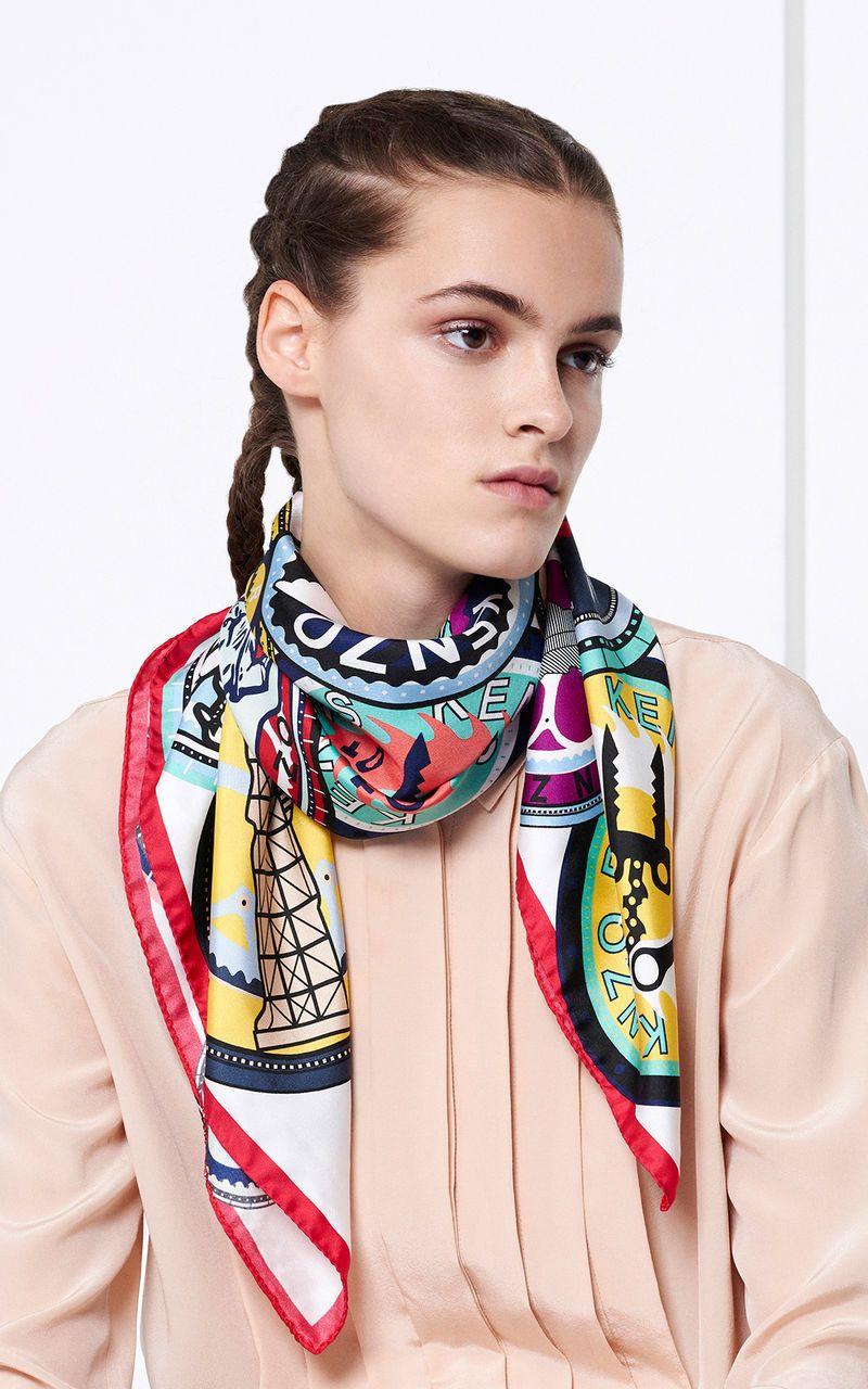 Carré Soie Médaillon, KENZO   Designed Scarves 2018   Pinterest ... 45110e0f9b4
