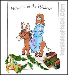 palm sunday activity sheet and craft jesus riding a donkey from wwwdaniellesplace