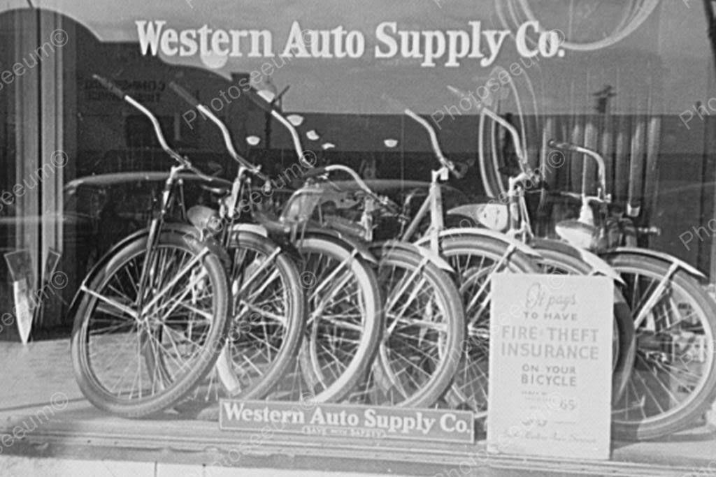 Bike Insurance Nostalgic Window Display 4x6 Reprint Of Old Photo Bicycle Old Photos Vintage Bicycles