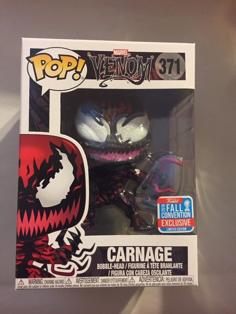 Funko Pop Marvel Carnage #371 Venom 2018 NYCC Hot Topic