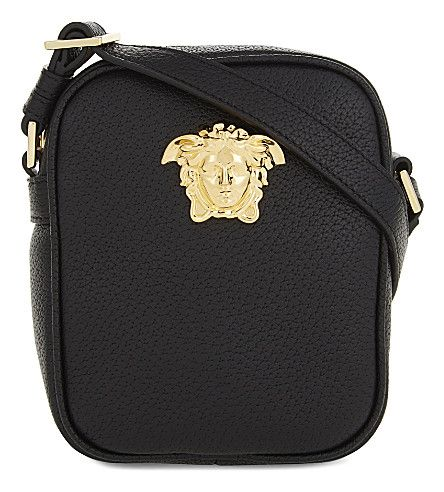 a59b749735 VERSACE Medusa Leather Cross-Body Bag.  versace  bags  shoulder bags   leather