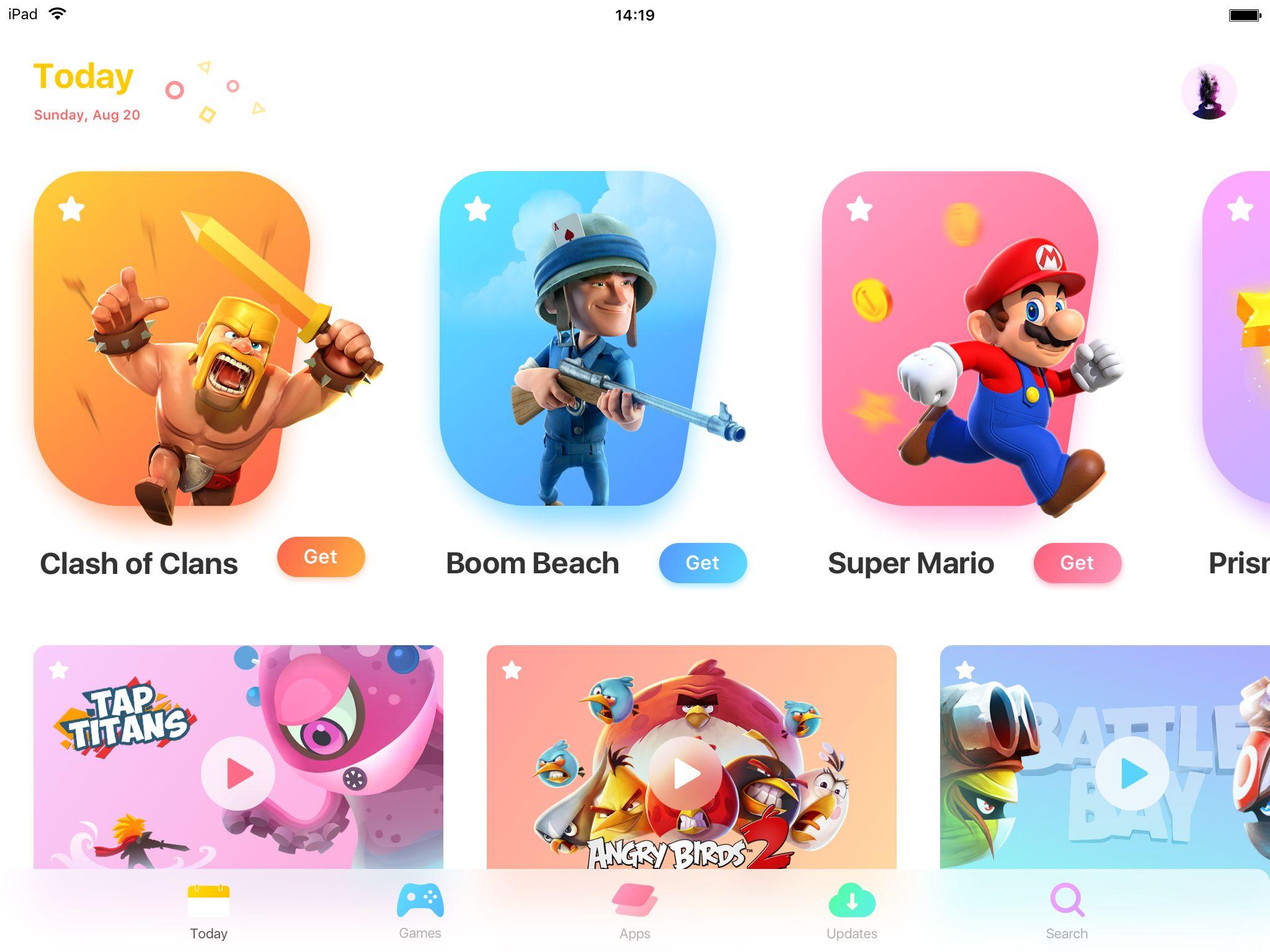 Character Design Ipad App : Ipad version dr ui design ipad user