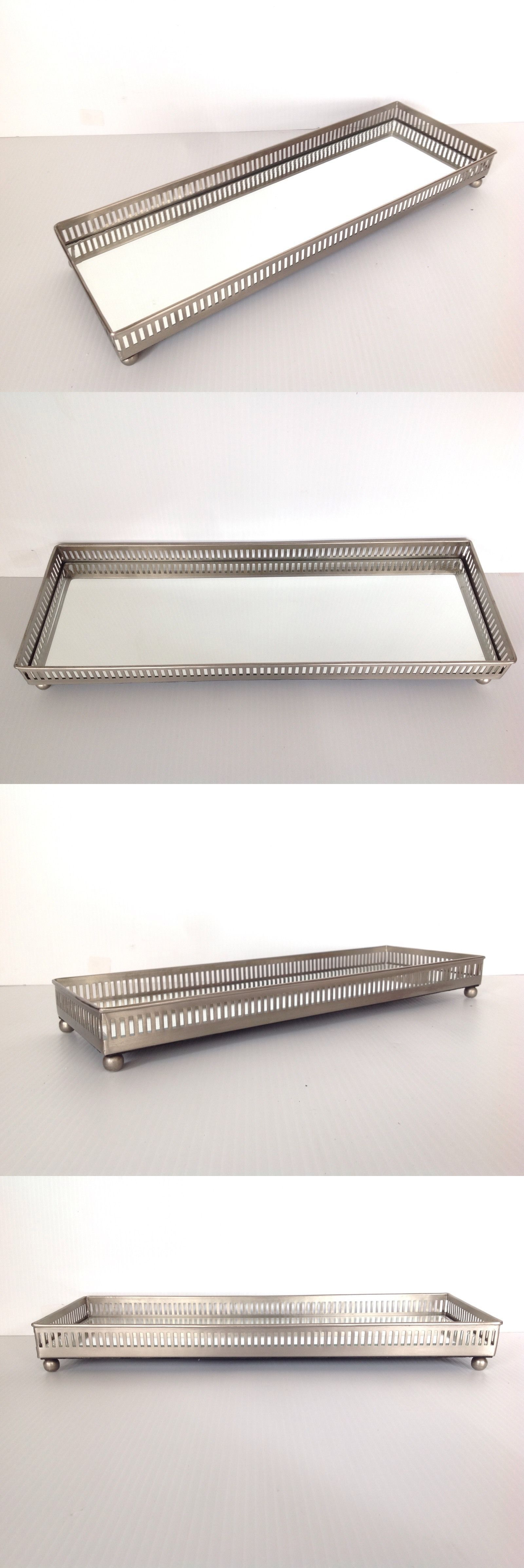 Other Jewelry Organizers 164372 Pottery Barn Mirrored Dresser Top Tray Large Size Sold Out At