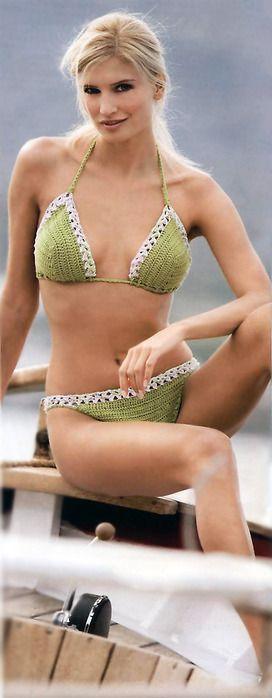 Crochet Bikini Top Spring Break Hobo Festival Bra Top Bottom Pattern