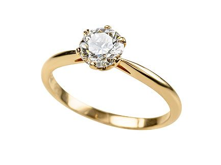pink gold diamond engagement ring 072ct fvs2 with excellent cut excellent polish and excellent - Gold Diamond Wedding Rings