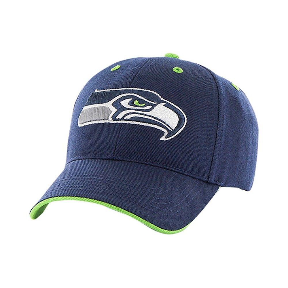 c7c83e163 NFL Twins Enterprise Men s Official Replica Adjustable Baseball Hat - Seattle  Seahawks