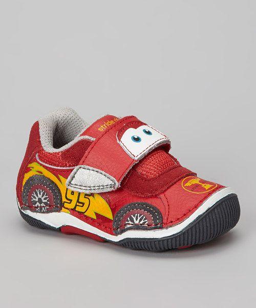 Stride Rite Red Disney™ Lightning McQueen Leather Sneaker