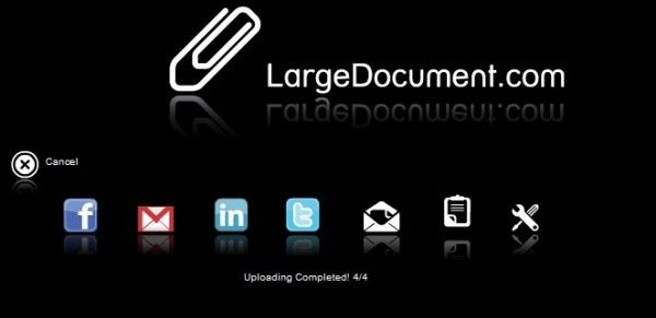 Con versión web, extensión para Chrome y aplicación para Android, Largedocument.com nos ofrece una aplicación bastante sencilla en cuanto a funcionalidades se refiere y muy práctica para compartir grandes archivos.