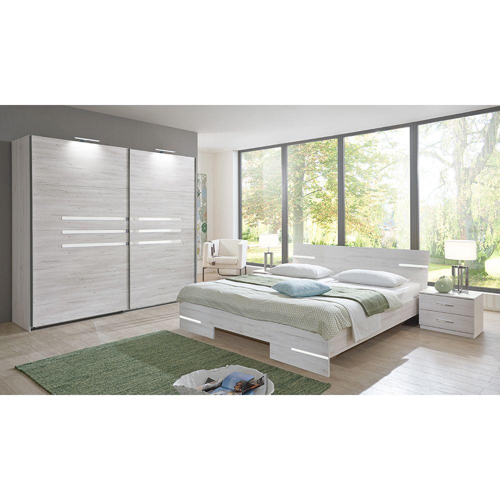 Schlafzimmer Set Anna Schwebetüren Schrank Bettbreite Wählbar - Komplett schlafzimmer gunstig kaufen