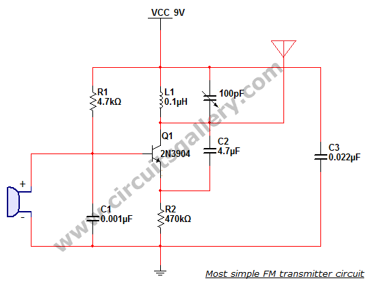 Most Simple FM Transmitter Circuit Diagram Gallery Of