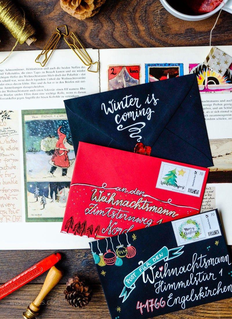 Weihnachtspost post einladungen mail invitations snail mail christmas und lettering - Weihnachtskarten schreiben ideen ...