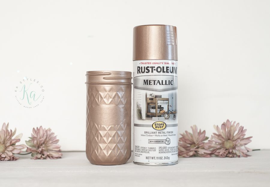 Rose Gold Spray Paint Sprinkled And Painted At Ka Styles Co Gold Spray Paint Gold Spray Spray Paint Colors