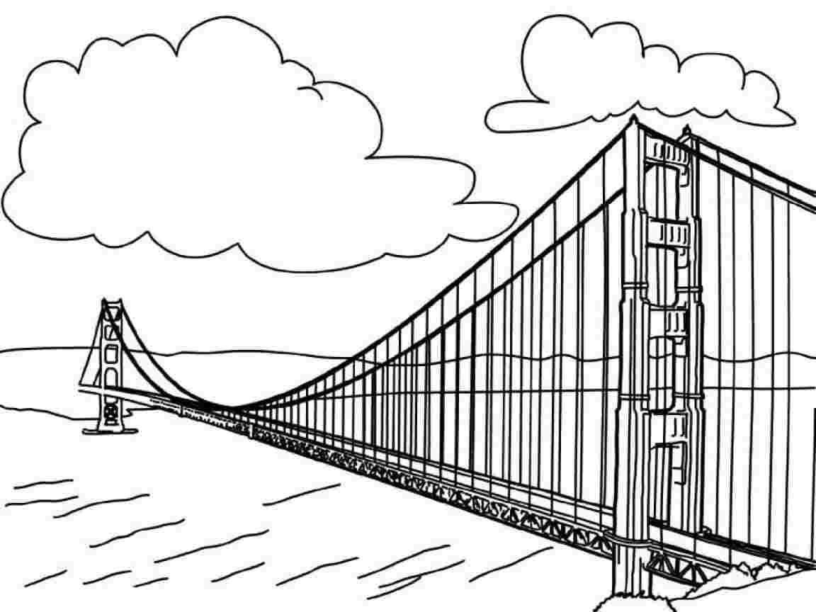 Coloring Festival Golden Gate Coloring Pages More Than 36