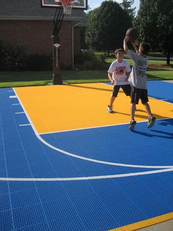 Home basketball court surface versacourt game courts for Outdoor basketball court cost estimate