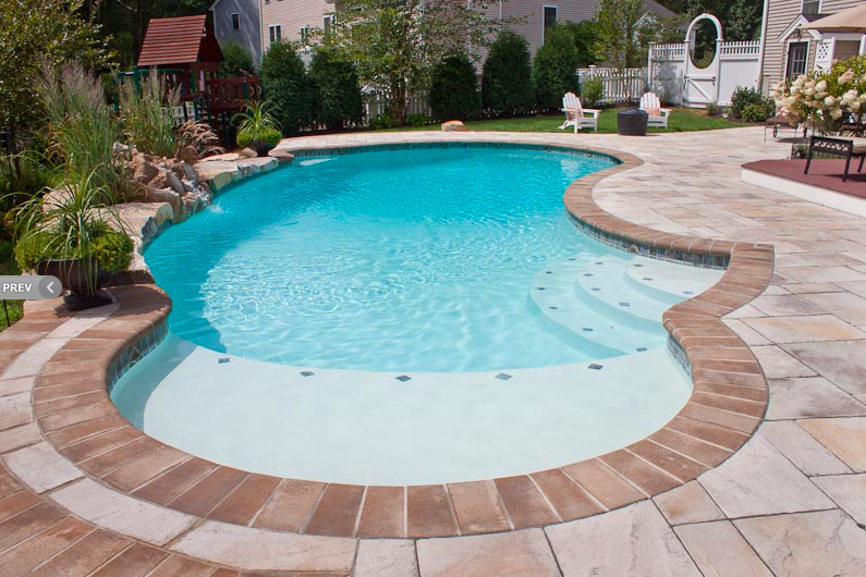 Gunite Swimming Pool With Sun Shelf Northern Pool Spa