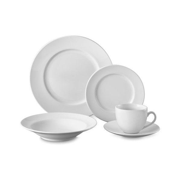 Williams-Sonoma Brasserie All-White 20-Piece Dinnerware Set ($200) ?  sc 1 st  Pinterest & Williams-Sonoma Brasserie All-White 20-Piece Dinnerware Set ($200 ...