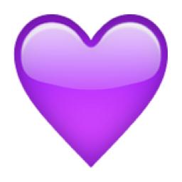 The Purple Heart Sensitity Understanding Emotion Emoticones De Whatsapp Emojis Emoji De Corazon