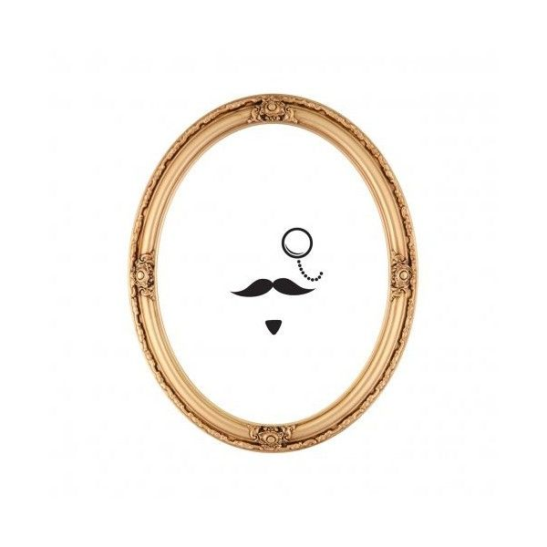 Moustache Mirror Sticker (£8.23) ❤ Liked On Polyvore Featuring Home, Home  Decor