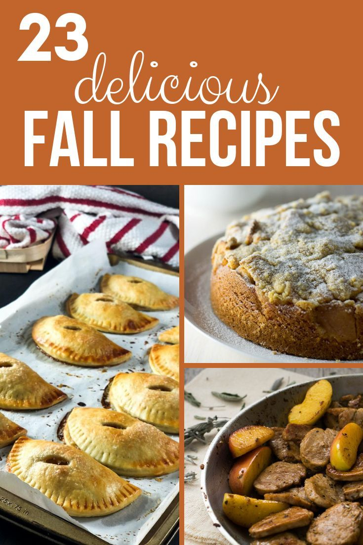 23 Delicious Fall Recipes Celebrate fall with these delicious recipes! Enjoy the flavor of pumpkins, apples, cinnamon and other fall favorites!
