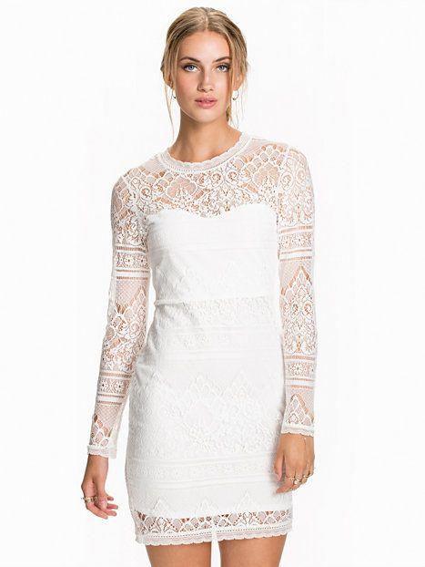 Garden Lace Dress - Nly Trend - Valkoinen - Juhlamekot - Vaatteet - Nainen - Nelly.com