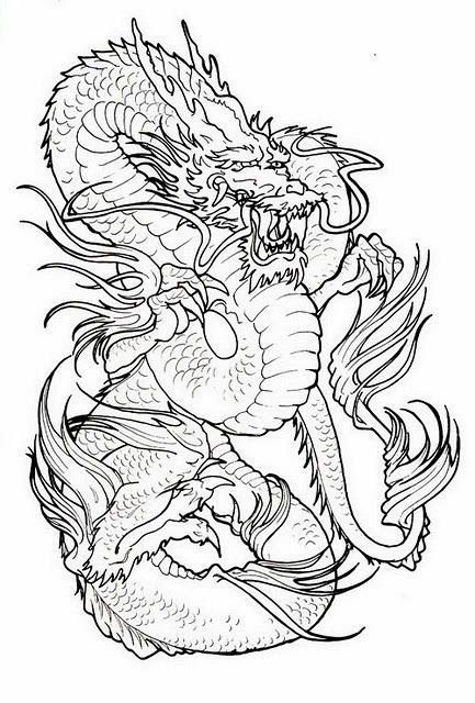 Dragon Tattoo Stencils Dragon Tattoo Stencil Dragon Tattoo Japanese Tattoo