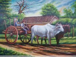 Resultado De Imagen Para Dibujos De Bueyes Con Carreta South Asian Art Fantasy Paintings Country Art