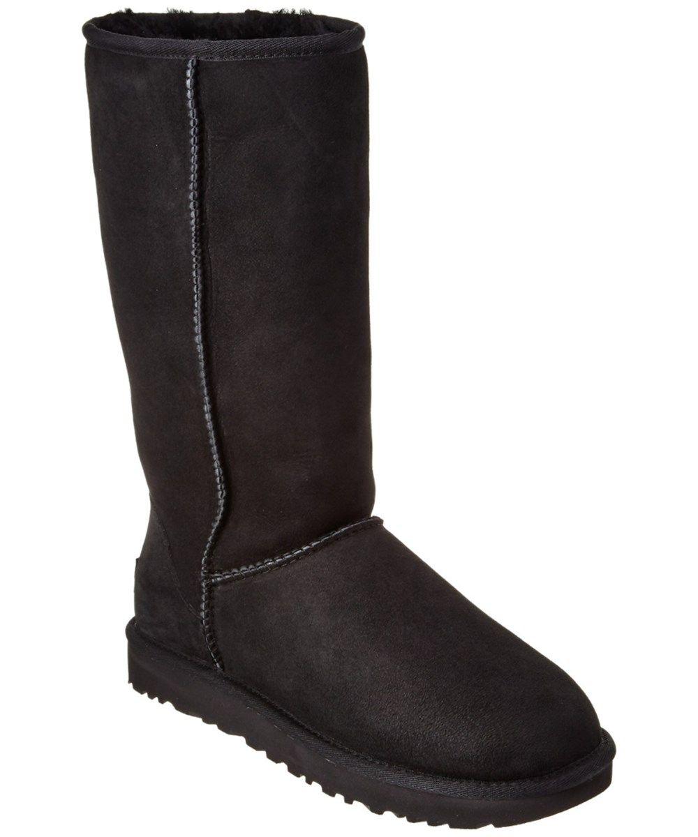 Women's Classic Tall Twin-Face Sheepskin Boots Black