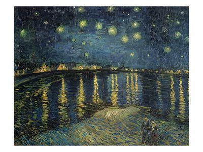Starry Night Over the Rhone, noin 1888 Giclee-vedos tekijänä Vincent van Gogh AllPosters.fi-sivustossa