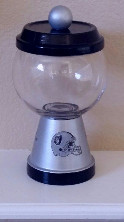 920abc8a DIY: Oakland Raiders clay pot candy jar   Candy Jars   Clay pot ...