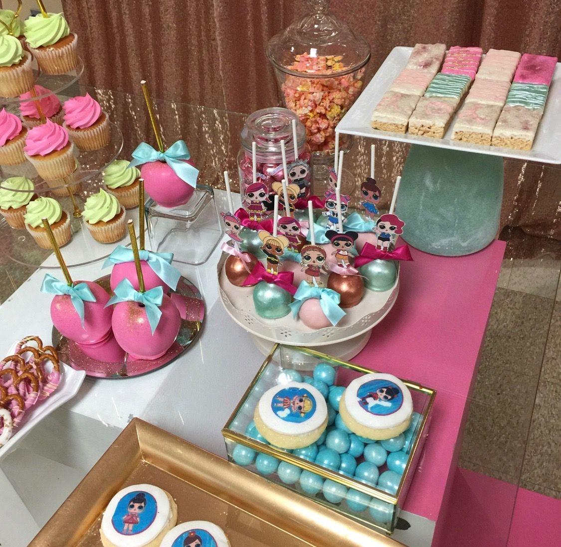 LOL Surprise Birthday Party, LOL Surprise Dessert Table
