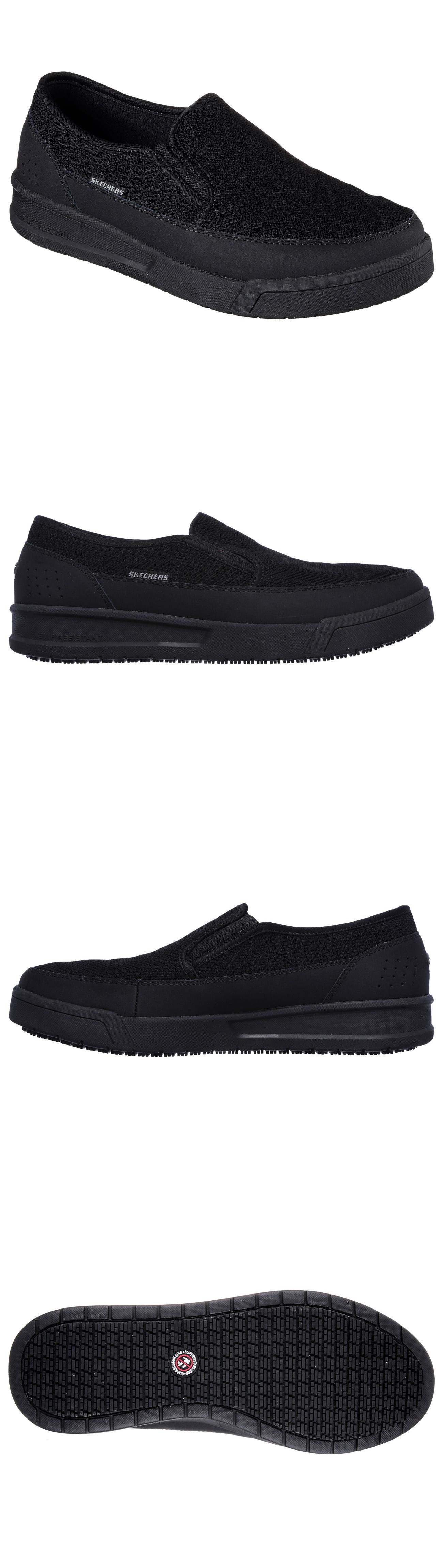 picture shoes comfortable foam p memory resistant work women of casual comforter slip skechers s comfort black
