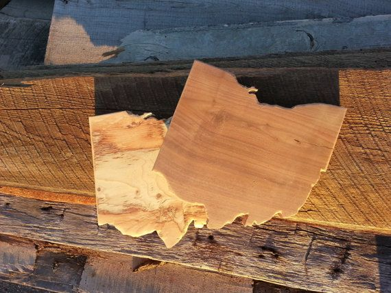 Ohio shaped solid wood cutting board / cheese plate