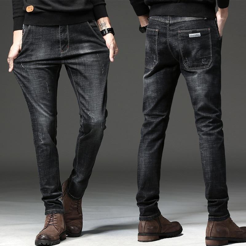 جينز أسود مرن للرجال بناطيل جينز كاجول Jeans For Tall Women Women Jeans Mens Jeans