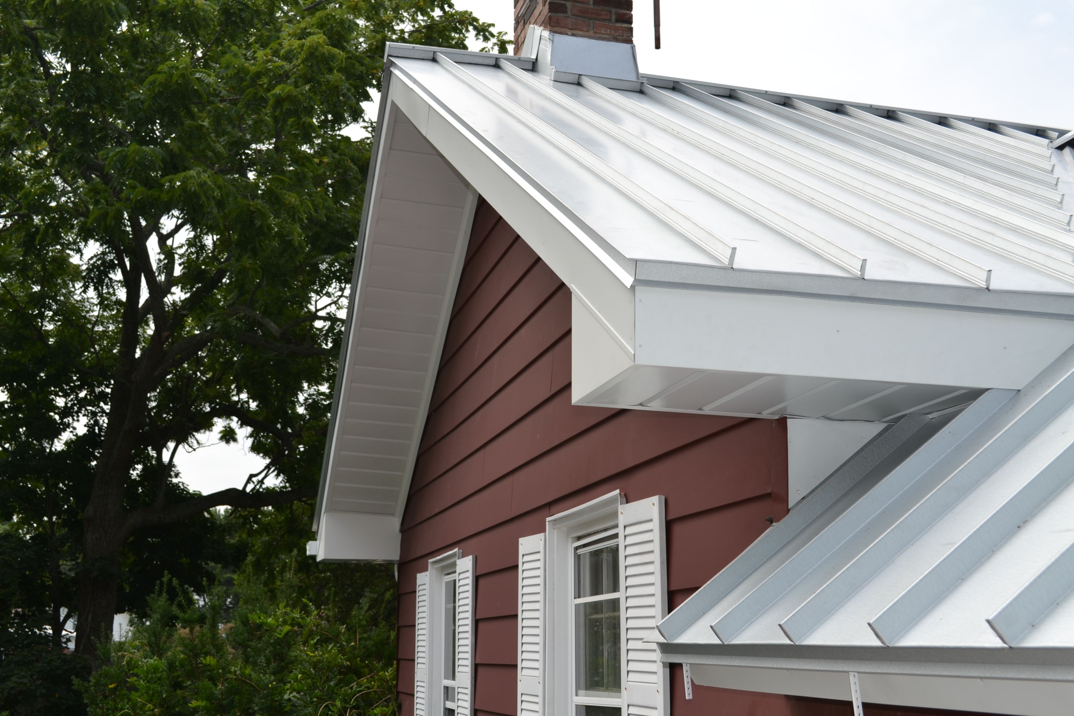 Standing seam metal roof on dormer design ideas pictures for House plans with tin roofs