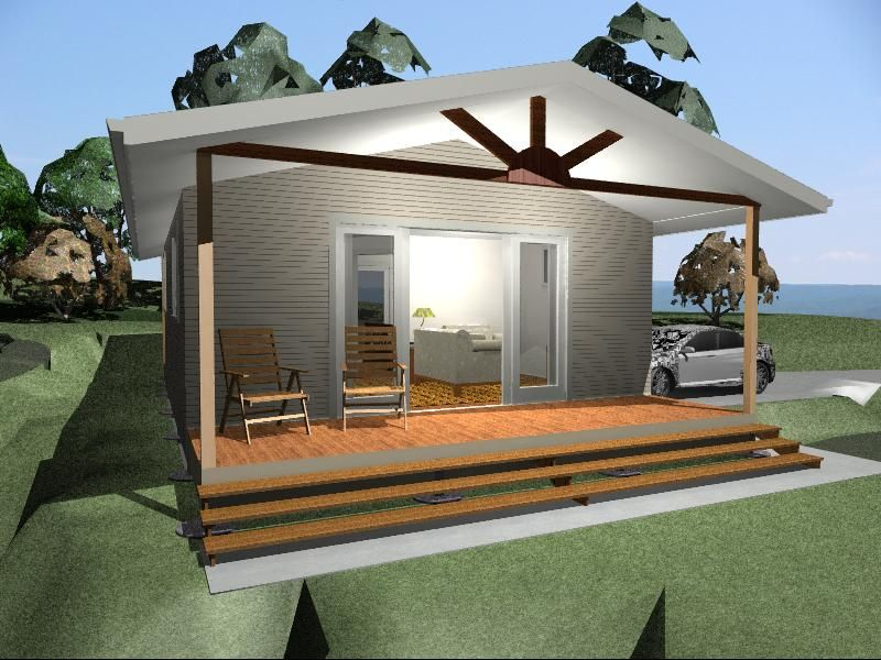 EB14 (39m2) - Bamboo New Little Houses© designs and creates - simple house designs