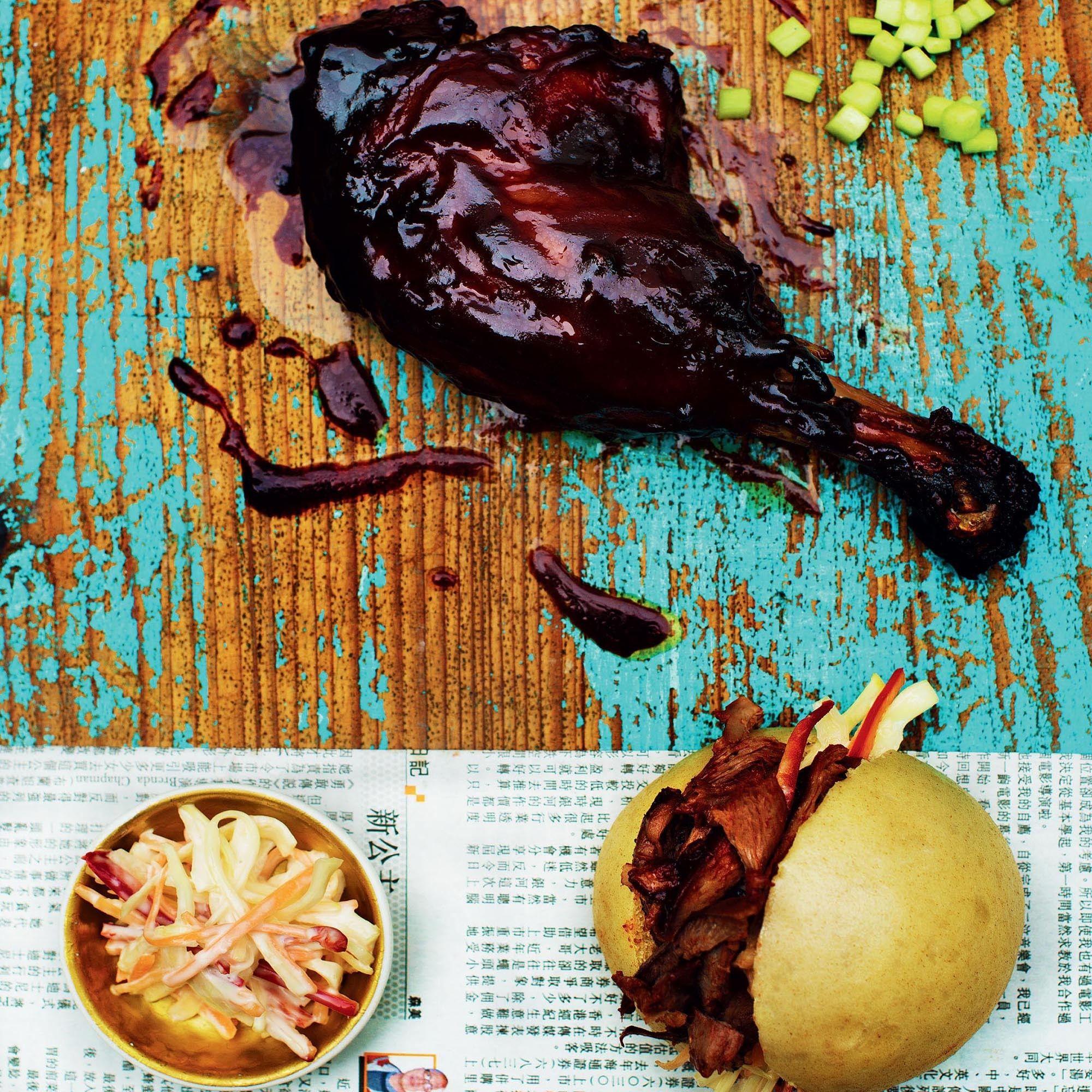 Duck & awasabi Coleslaw Buns