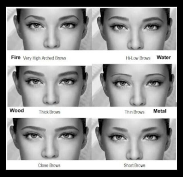 eyebrows   Different eyebrow shapes, Types of eyebrows ...