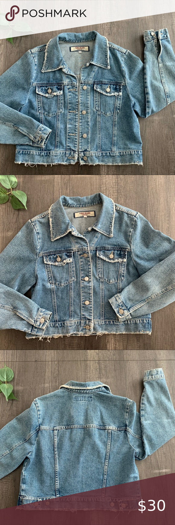 Paris Blues Originals Denim Jean Jacket In 2021 Original Denim Jeans Coats Jackets Women Long Sleeve Jean Jacket [ 1740 x 580 Pixel ]