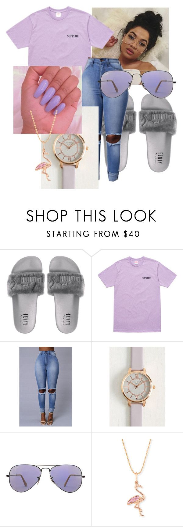 """""""Ice Melts~Drake, Young Thug"""" by qveenpolyvore ❤ liked on Polyvore featuring Olivia Burton, Ray-Ban and Sydney Evan"""