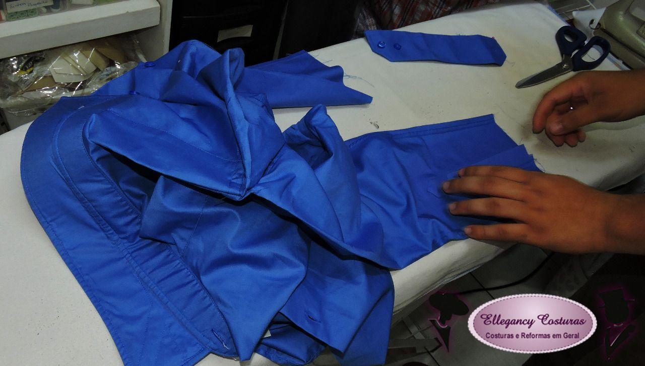 476e11be80 Diminuir lateral de camisa social e ajuste de punho  camisasocial   ajustedepunho   ellegancycosturas