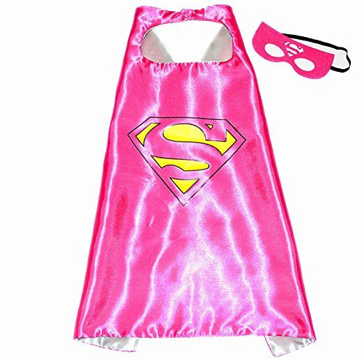 Supergirl Superwoman Superhelden Kostume Fur Kinder Cape Und Maske