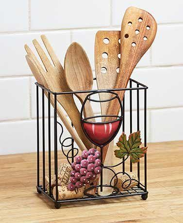 this is perfect for your wine theme kitchen. i love the