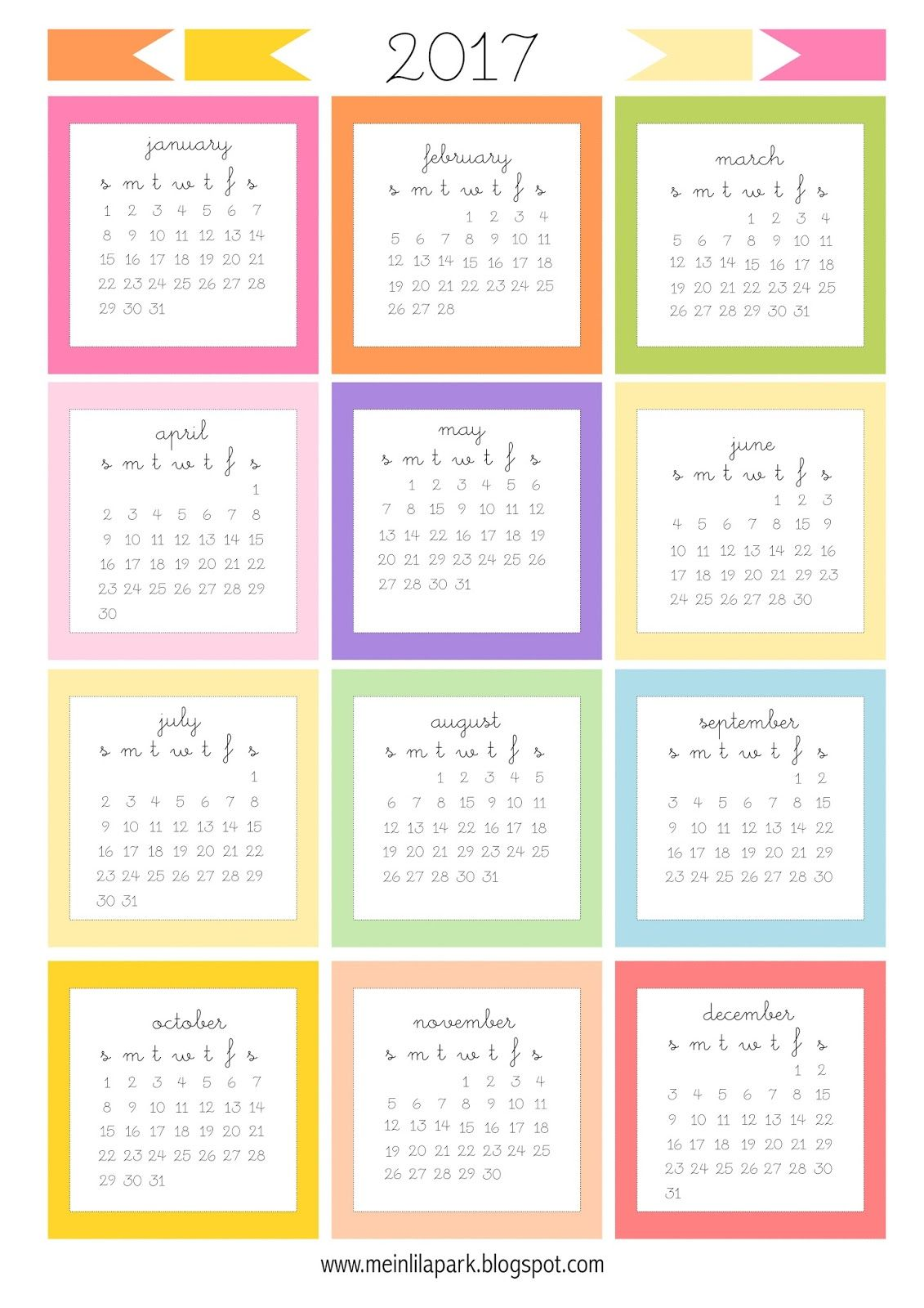 free printable 2017 mini calendar cards bullet journal stickers